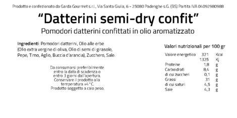 Datterino Confit etichetta